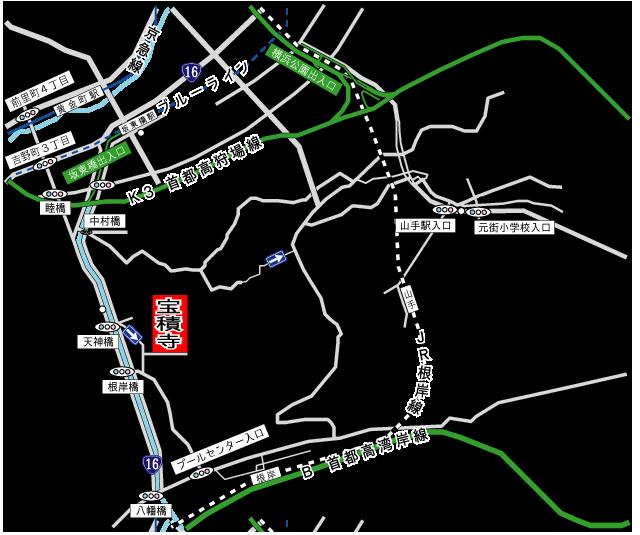 宝積寺テラノホールアクセス地図